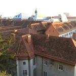 Грац в сентябре. Вид со стен крепости Шлоссберг.