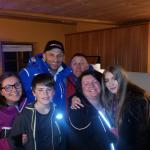 Our family with Matteo in chalet matteo