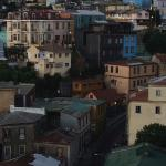 The gorgeous hills of Valparaiso from the rooftop terrace