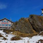 Hotel Grindelwaldblick von der Bahnstation aus.