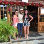 Kids with Rudy, Outstanding Bartender in Bocas!!