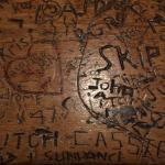 Supposedly some graffiti from Butch Cassidy & Sundance on the bar