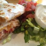 Lobster quesadilla - super cheesey and lots of lobster.
