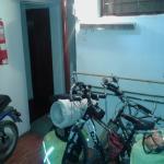 Zona de habitaciones arriba y abajo, se puede dejar la bici