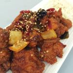 Sweet and spicy , sweet and sour chicken