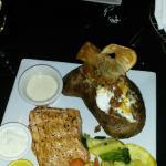 Salmon, Veggies with the largest potato the size of Idaho