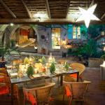 le patio en chandelles  pour la halte gourmande