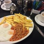 Ever popular, eggs, chips and beans (ask for them on the plate not in a dish)
