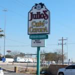 Julio's Cafe Corona Sign