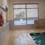 Indoor Swimming Pool, and there is a small Hot Sauna Room in the Swimming Room area.