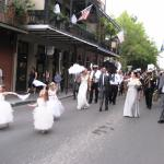 Wedding procession passing by the Cornstalk