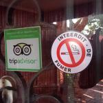 Trip Advisor cannot smoke here