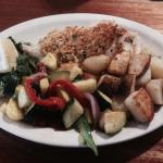 Baked Haddock with Roasted Potatoes and Veg Medley