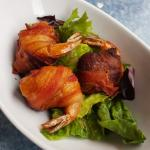 Bacon wrapped shrimp stuffed with crab
