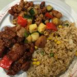 Kung Pao chicken and Bejing beef