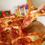 La exquisita pizza