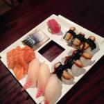Various sashimi vs nigiri