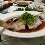 yummy steamed river fish