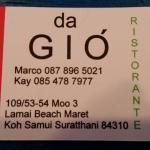 Da Gio' Lamai Beach Restaurant Foto