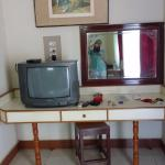 TV reception was pretty bad but the spacious dressing table made up for that