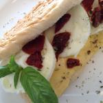 Egg whites panini