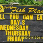All you can eat days 11:30am - 9 pm