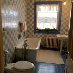 One of the 5 tiled bathrooms