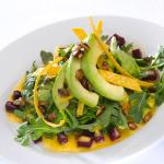 Mixed Greens with baby arugula, roasted beets, spiced pepitas & orange chipotle vinaigrette