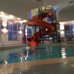 The pool and waterslide