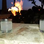 Drinks by the firepit