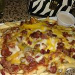 Bacon cheddar fries with chili