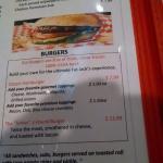 Sandwiches, burgers.