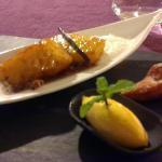 Le dessert : l'ananas rôti