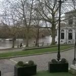 View of the Thames from our table