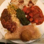 Chole,Rice, palak curry, paneer tikka masala, aloo tikki, masala dosa, naan