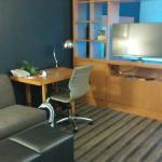 living room - t.v. swiveled both ways