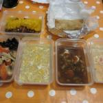 pato com laranja; crepe chinês; gambas na caçarola; sopa de milho com camarão; sopa 3 delícias e