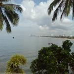 Views of beach and Colombo