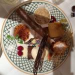 Assiette of desserts gorgeous in every way