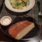 Hot bread w/ butter, plus caesar salad!