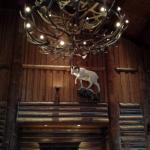 Mountain goat and antler chandaleer