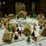 Gingerbread village in lobby