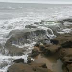 Beautiful rocky beach.