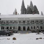Snowing at the Wawona Hotel