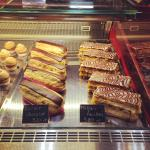 Chocolate eclairs and vanilla slices