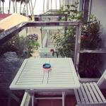 love the small veranda - you can  actually get a preview of the sea
