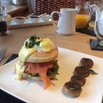 Eggs Benedict from the breakfast menu.