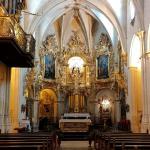 Nave principal y altar mayor rococó