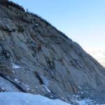 Escaliers pour descendre mer de glace