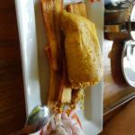Super recomendado el tamal de pollo con maduro